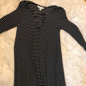 American Eagle Striped Swing Dress